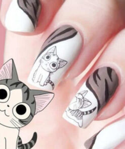 2016-new-fashion-lovely-water-transfer-3d-black-grey-cat-nail-art-sticker-full-wraps-manicure-700 × 600