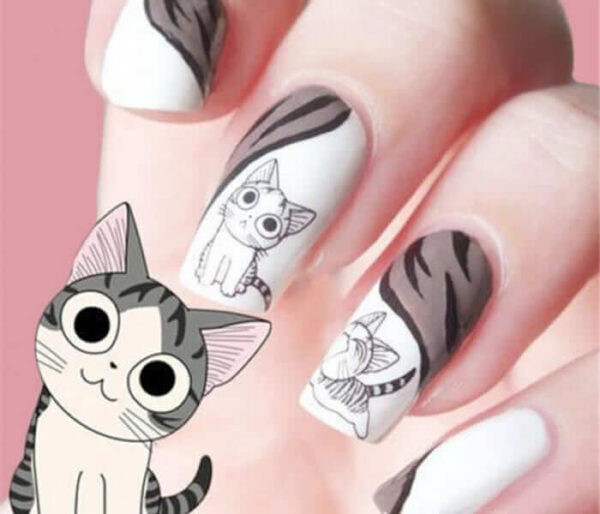 2016-new-fashion-lovely-water-transfer-3d-black-grey-cat-nail-art-sticker-full-wraps-manicure-700×600