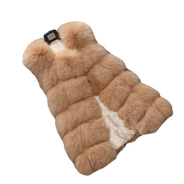 fox-fur-vest-khaki
