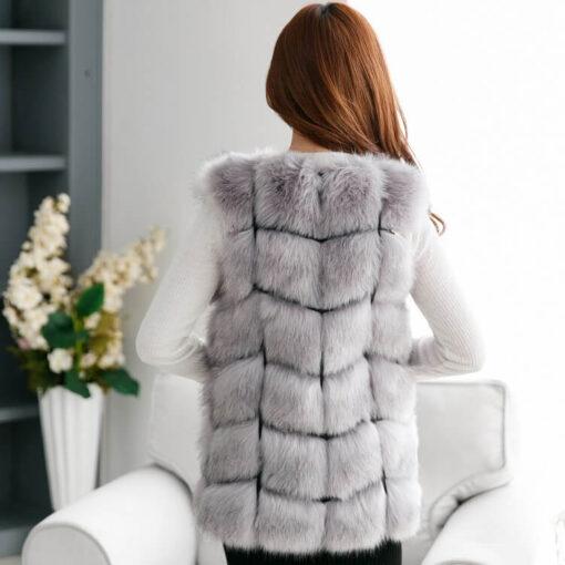 Faux Fur Vest, Faux Fur Vest