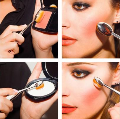 oval brush makeup