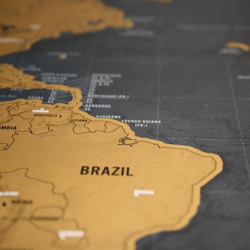luxury edition black scrape world map deluxe travel