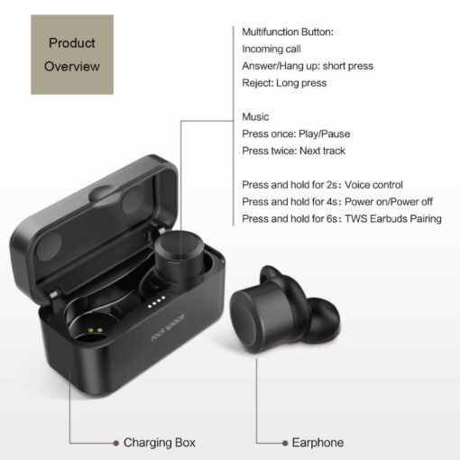 Wireless Earbuds, Bluetooth Earphone Wireless Earbuds