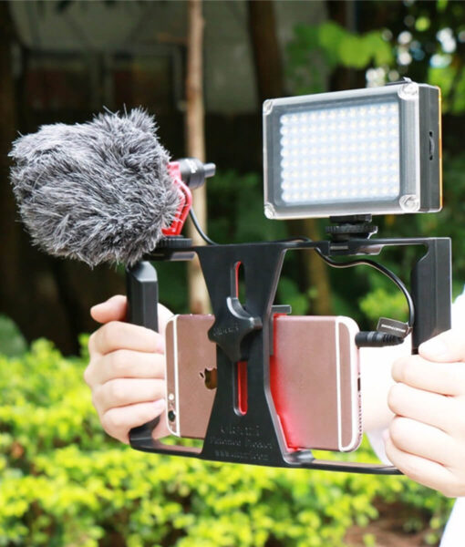 Vlogger Box, Vlogger Box with LED light and Microphone