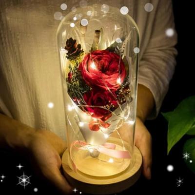 Flower Lamp, Enchanted Rose Flower Lamp