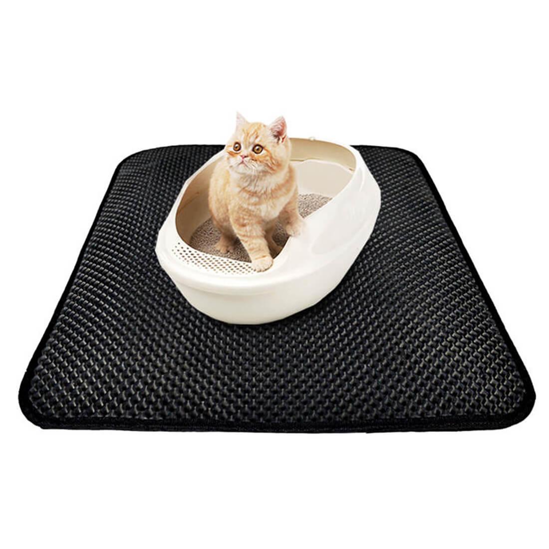 Cat Litter Mat || Keep Litter Box Messes Contained