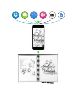 RGeek-Elfinbook-Erasable-Notebook-Paper-Reusable-Smart-Wirebound-Notebook-Cloud-Storage-Flash-Storage-App-Connection-3