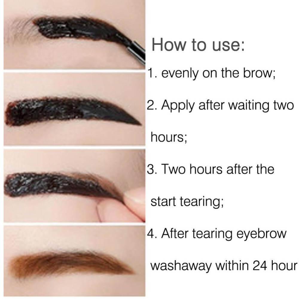 Peel off waterproof eyebrow tattoo for Waterproof eyebrow tattoo
