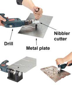 Metal Cutter, Double Head Sheet Nibbler Metal Cutter