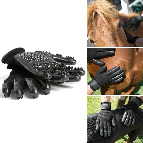 Pet Grooming Gloves, Pet Grooming Gloves For Cats, Dogs & Horses