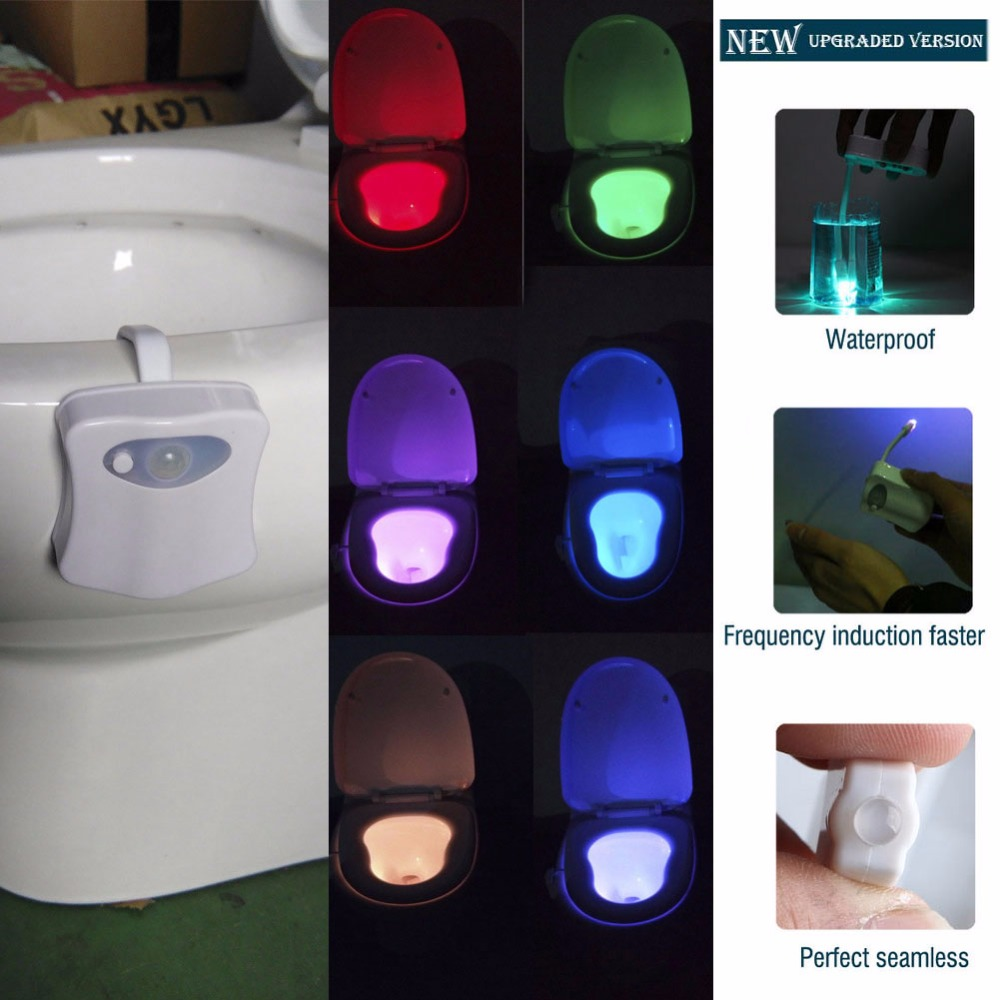 Cool 8 Colors Motion Sensor Led Toilet Night Light Not Sold In Stores Beutiful Home Inspiration Xortanetmahrainfo