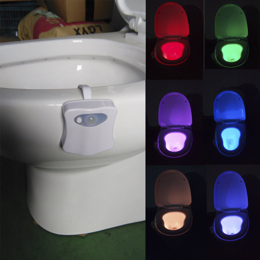 Marvelous 8 Colors Motion Sensor Led Toilet Night Light Not Sold In Stores Beutiful Home Inspiration Xortanetmahrainfo