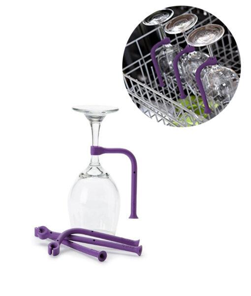 Dishwasher Glass Holder, Adjustable Dishwasher Glass Holder