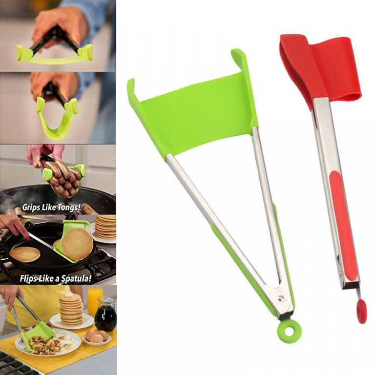 9-Inch-Clever-Tongs-2-In-1-Kitchen-Spatula-and-Tongs-Non-Stick-Heat-Resistant-Stainless