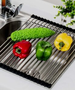 Popular-Multifunctional-Sink-Storage-Dish-Drying-Rack-Holder-Fruit-Vegetable-Drainer-Colanders-Insulation-Tool-Storage-Foldable