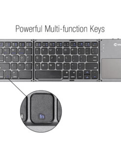 Keyboard with Touchpad, Foldable Portable Keyboard with Touchpad