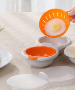 Microwavable Double Egg Poacher, Perfect Poach – Microwavable Double Egg Poacher