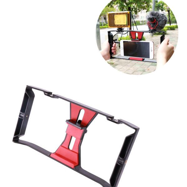 Ulanzi-Handheld-Nhare-Vlogging-Setup-Vhidhiyo-Stabilizer-ine-LED-yechiedza-Microphone-ye-iPhone-8-7plus-for-1