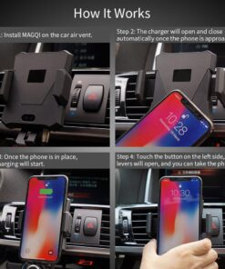 , Automatic Wireless Car Mount Car Charger
