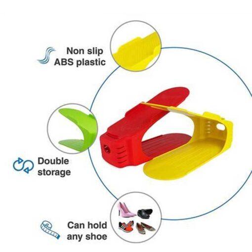 8pcs-Durable-Plastic-Shoe-Organizer-Detached-Double-Wide-Shoe-Storage-Rack-Modern-Double-Cleaning-Storage-Shoes