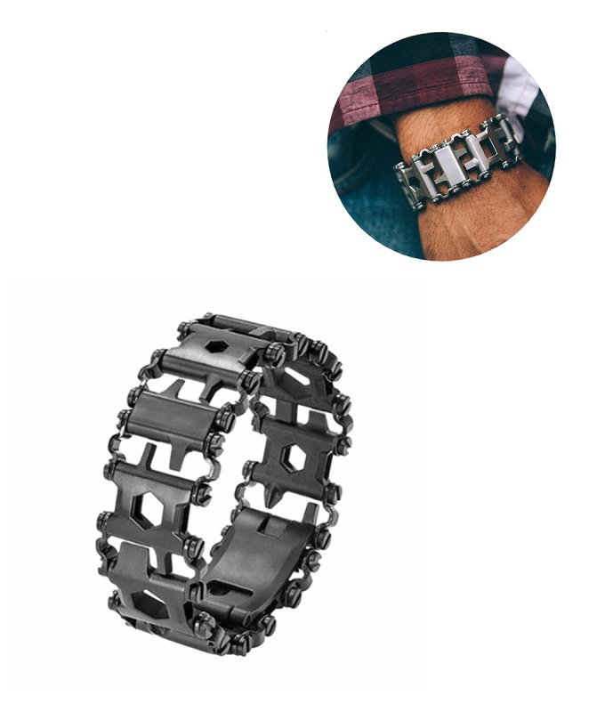 AMGJ-Tread-Multifunction-stainless-steel-Wear-bracelet-Strap-tool-Screwdriver-can-opener-hex-wrench-Free-combination