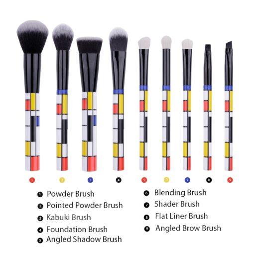 DUcare-9-PCS-Makeup-Brushes-Kabuki-Foundation-Eyeshadow-Blending-Powder-Brush-Goat-Hair-Make-Up-Brushes (2)