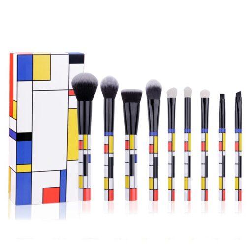 DUcare-9-PCS-Makeup-Brushes-Kabuki-Foundation-Eyeshadow-Blending-Powder-Brush-Goat-Hair-Make-Up-Brushes