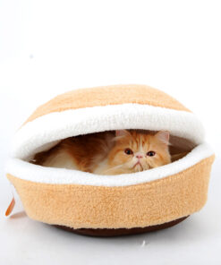 HOOPET-A-Special-Set-Warm-Cat-Bed-Hamburger-bed-with-Valuable-Cat-Toy-Jellyfish