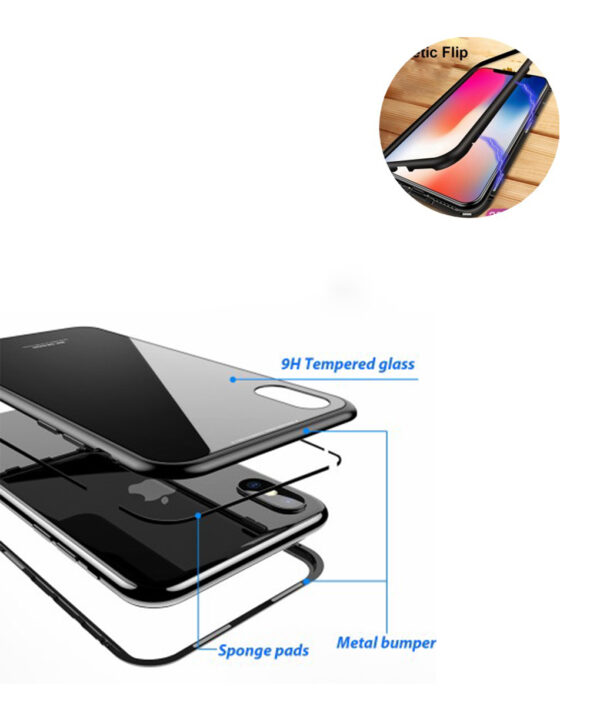 Magnetic-Adsorption-Case-for-IPhone-X-8-PLUS-7-Plus-Clear-Tempered-Glass-Built-in-Magnet-280×280