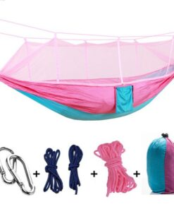 , Ultralight Travel Hammock with Mosquito Net
