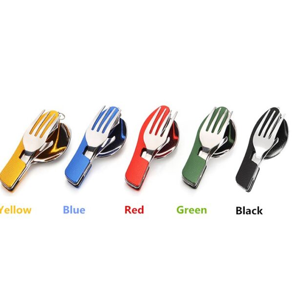 VILEAD-Portable-Folding-Knife-Fork-Spoon-Combined-Camping-Set-Multifunctional-Stainless-Steel-Outdoor-Tableware-for-Picnic (3)