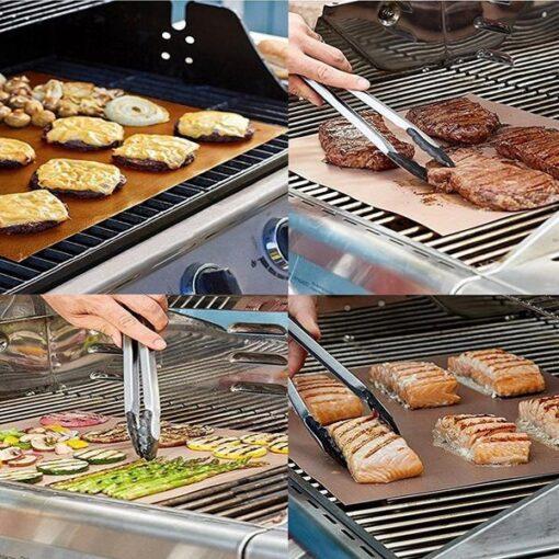 bbq grill mat, Reusable BBQ Grill Mat (5pcs)