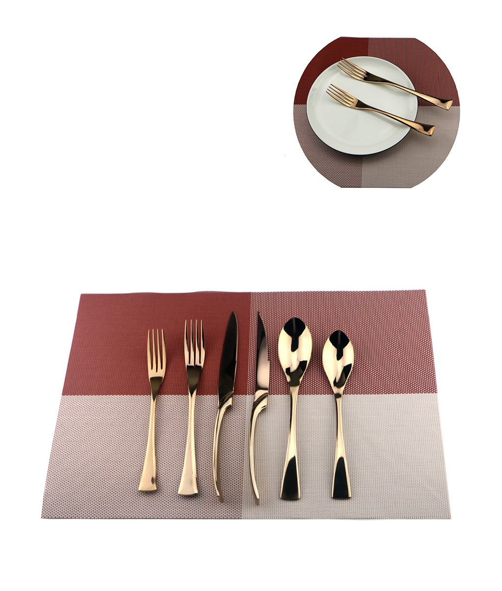 6Pcs-Lot-Rose-Gold-Cutlery-Set-18-10-  sc 1 st  JOOPZY & Rose Gold Dinnerware Set || Rose Gold Stainless Steel 6piec set