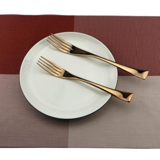 , Rose Gold Dinnerware Set 6pcs