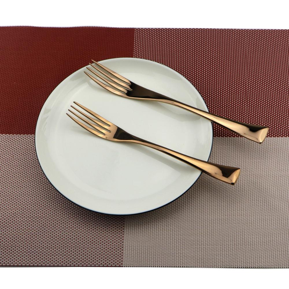 6Pcs-Lot-Rose-Gold-Cutlery-Set-18-10- & Rose Gold Dinnerware Set || Rose Gold Stainless Steel 6piec set