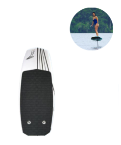 Electronic Surfboard fly over the water with the electric