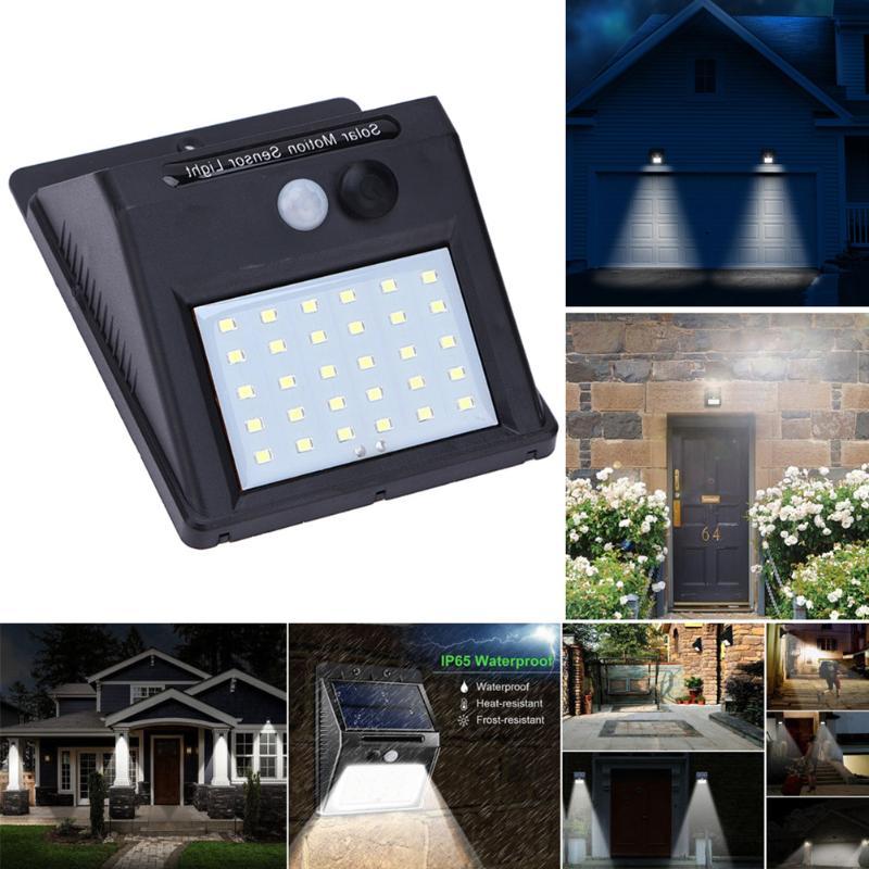 Solar Ed Motion Sensor Weatherproof Outdoor Wall Light
