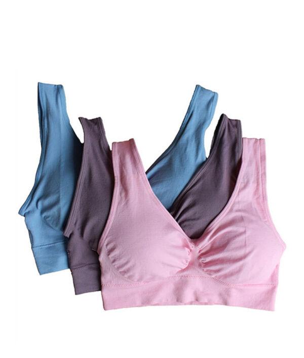 3pcs set sexy genie bra With Pads Seamless push up bra plus size XXXL underwear wireless 1 1.jpg 640x640 1 Copy 1