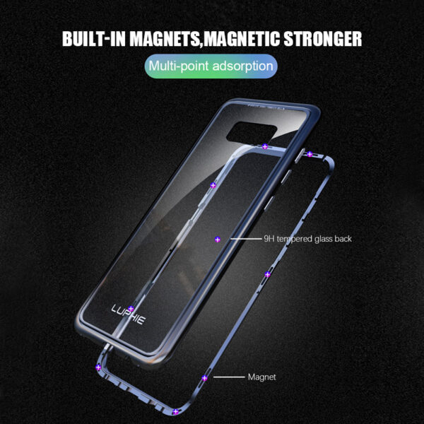 Metal Magnetic Adsorption case for samsung galaxy S8 case S8 Plus Cover S8 coque Luxury Bumper 2
