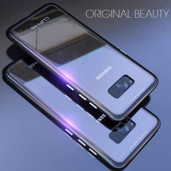 Metal Magnetic Adsorption case for samsung galaxy S8 case S8 Plus Cover S8 coque Luxury Bumper 4