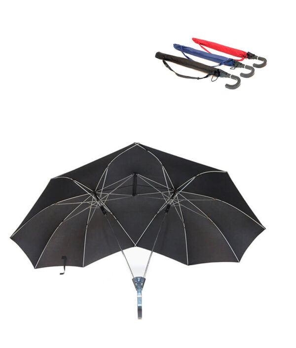 SAFEBET Brand Creative Couples Large area Double Open Umbrella Organizer Double Open Pole against Wind Sunny 1 1