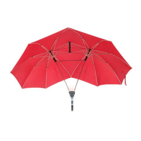 SAFEBET Brand Creative Couples Large area Double Open Umbrella Organizer Double Open Pole against Wind