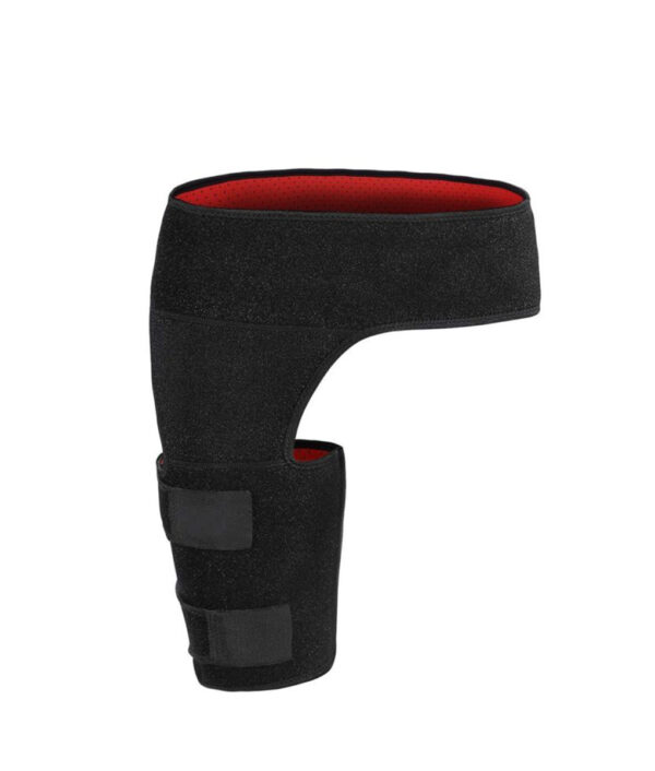 Thigh Support Compression Brace Wrap Black Sprains Therapy Groin Leg Pain Hip 1