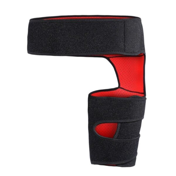 Thigh Support Compression Brace Wrap Black Sprains Therapy Groin Leg Pain Hip 2