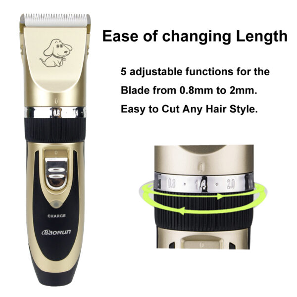 2018 Professional Grooming Kit Rechargeable Pet Cat Dog Hair Trimmer High Quality Electrical Clipper Shaver Set 2