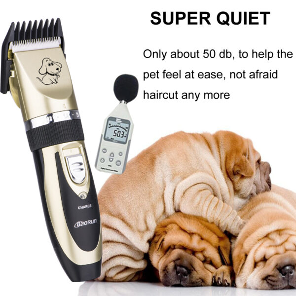 2018 Professional Grooming Kit Rechargeable Pet Cat Dog Hair Trimmer High Quality Electrical Clipper Shaver Set 3