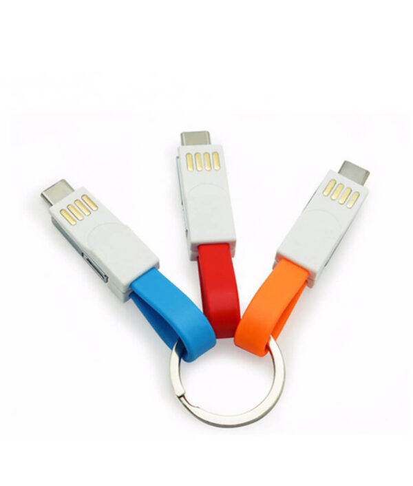3 in 1 Key Chain USB Magnetic Charging Cable Sync Data Cable For iPhone Android Type 2 800x800 1