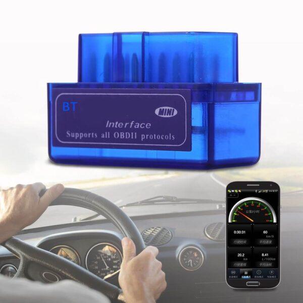 Latest Version Mini ELM327 Auto Scanner ELM 327 Bluetooth OBD2 for Android Torque OBDII Car V2 1 1