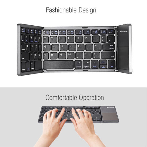 fold keyboard, Folding Keyboard with Touchpad
