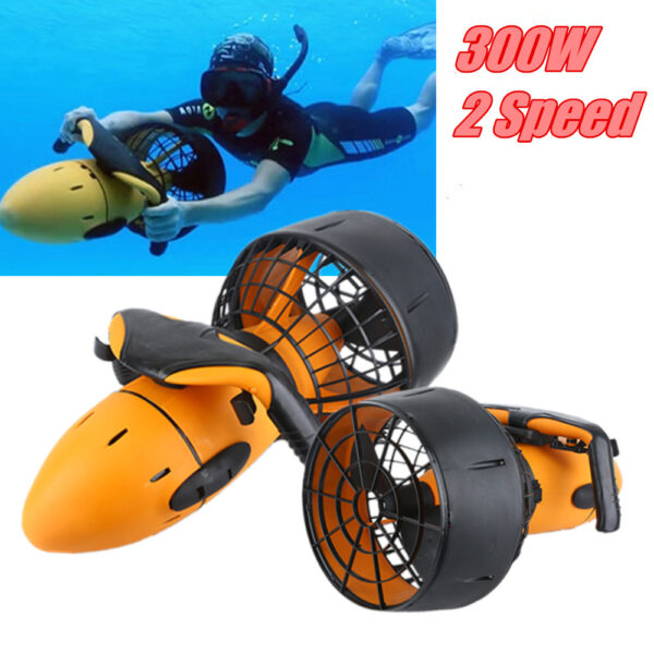 Waterproof 300W Electric Underwater Scooter Water Sea Dual Speed Propeller Diving Pool Scooter Water Sports Equipment